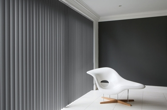 Taped Vertical Blinds. Made to measure taped vertical blinds for sale from Bargain Blinds in Torquay, Devon.